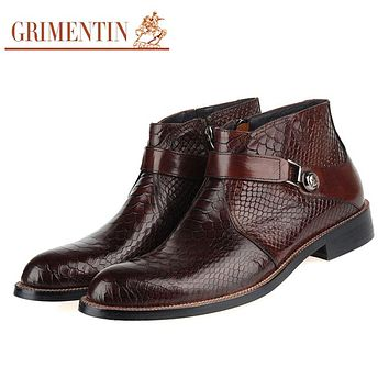 Men Boots Genuine Leather Luxury Fashion Casual Ankle Boots Men Shoes Male For Wedding Business