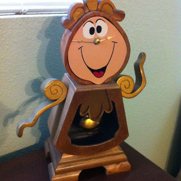 Cogsworth Custom Mantel Clock, Hand painted