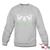 Funny Ugly Christmas T-Rex Sweater crewneck sweatshirt