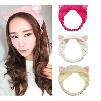 2017 New Fashion Womens Girls Cute Cat Fox Ears Headband Headwear Lady Party Gift Headdress Hair Band Accessories 6 colors