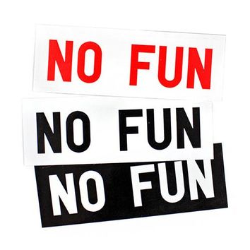 No Fun Sticker (Set of 3)