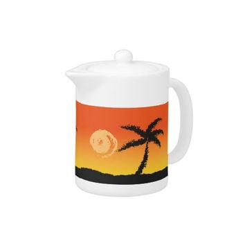 Island Sunset Teapot