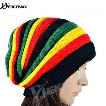 ESBON5U 2016 new gorro reggae  unisex Gorro Slouchy Men's Women's Hats Cap Rasta Winter Hats For Women Men Beanie Balaclava Skull