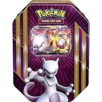 Pokemon TCG Card Game Mewtwo EX Spring 2016 Triple Power Collector's Tin