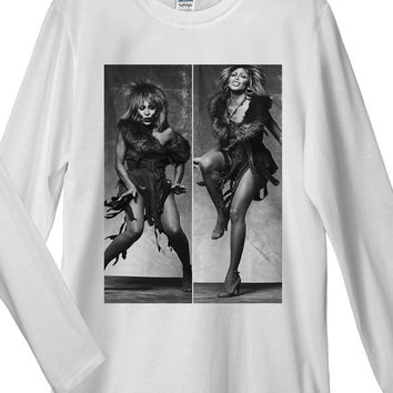 Tina Turner Rocking Long Sleeve T-Shirt