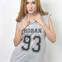 Niall Horan 93 Shirt Sleeveless Hoodie Hooded Vest Tank Top Muscle Tee Sweatshirt Women Tshirt Size S M L