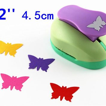 free shipping Butterfly 2'' craft punch paper cutter scrapbook child craft tool hole punches Embossing device kid  S2935-3