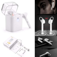 Twins True Wireless Bluetooth Stereo In-Ear Earphone Earbuds with intelligent charging box for iphone7 7plus  Huawei Xiaomi
