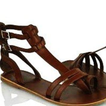 Gladiator Inspired Leather SandalsHandmade by IncredibleIndia