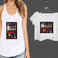 Broadway Musical Collage For Woman Tank Top , Man Tank Top / Crop Shirt, Sexy Shirt,Cropped Shirt,Crop Tshirt Women,Crop Shirt Women S, M, L, XL, 2XL*NP*