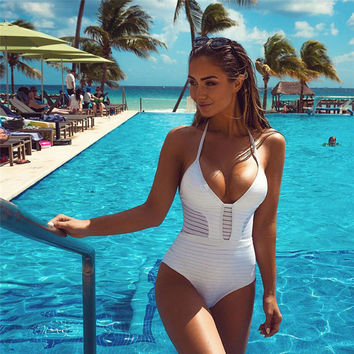 Women Sexy One Piece Bathing Suit Push Up