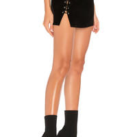 by the way. Luna Lace Up Mini Skirt in Black | REVOLVE