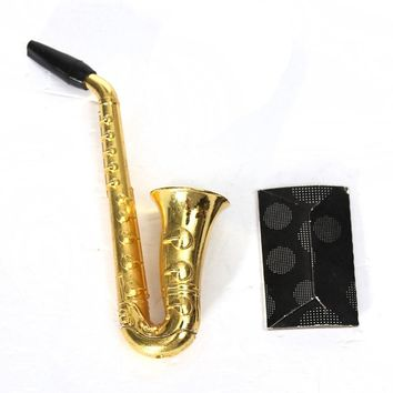 1pcs Sax Small Saxophone Portable Smoke Tobacco Herb Smoking Pipes
