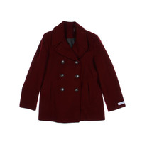 Calvin Klein Womens Wool Double Breasted Pea Coat