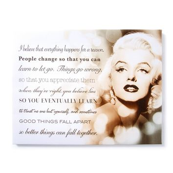 Marilyn Monroe Sepia Wall Canvas | Icing