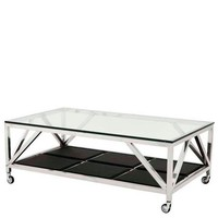 Wheeled Rectangular Coffee Table | Eichholtz Prado