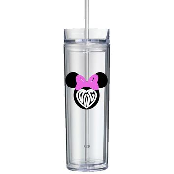 Highest Quality Personalized Mickey / Minnie Monogram Tumbler - Perfect Gift - Free Shipping