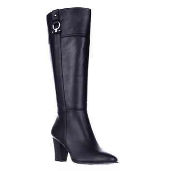 A. Courtnee Knee High Dress Boots - Black
