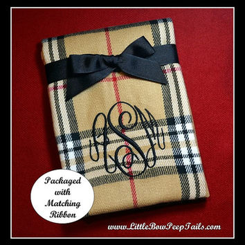 Monogrammed Camel Plaid Scarf - adult mens womens personalized brittish plaid red black and white teen girls college ladies
