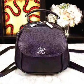 One-nice™ Chanel women shopping Backpack bag female inclined Backpack bag black Backpack G-3A-XNRSSNB