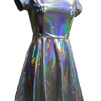 Holographic Skater Dress - 2 Colors See Video