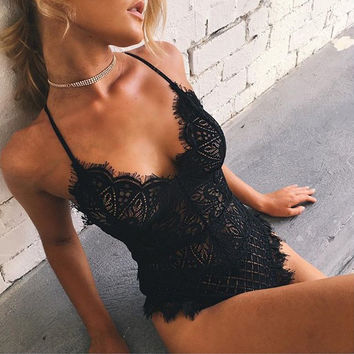 Sexy Lace Hollow Out Sexy Exotic Lingerie