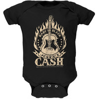Johnny Cash - Baby In Black Guitar Baby One Piece