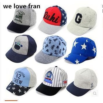 WE love fran chlideren summer cap baseball cap cotton lovely hat J1-J6