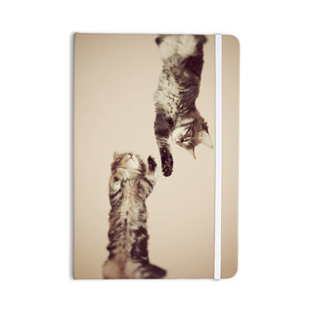 "Monika Strigel ""Upside Down"" Brown Cats Everything Notebook"