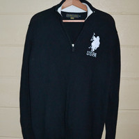 Vintage Pullover Sweater Men's Sweater US Polo Association Sweater Equestrian Sweater Size Medium