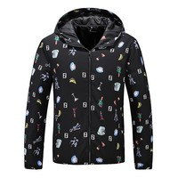 Boys & Men Fendi Fashion Casual Cardigan Jacket Coat