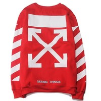 Off White Women Men Fashion Casual Top Sweater Pullover-3
