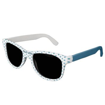 Blue bullet hole. Add your text. Sunglasses