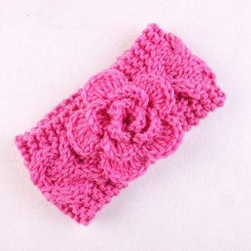 Baby Knit Headband Crochet Headband with Flower for Girls Baby Winter Headband Flower Headband Ear Warmer H air Accessories