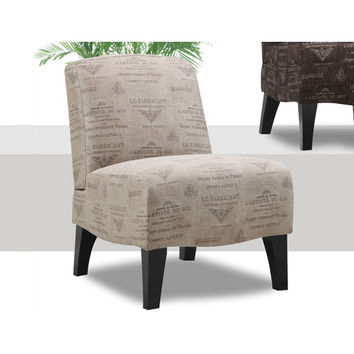 Emerald Home Furnishings U3019B-05-25 Carrie Toulouse Mineral Print Accent Chair