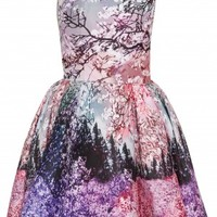 Boutique 1 - MARY KATRANTZOU - Multi Blossom Print Skater Dress | Boutique1.com
