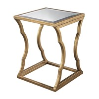 Metal Cloud Side Table Antique Gold Leaf,Mirror