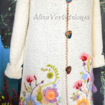 Coat with embroidery.