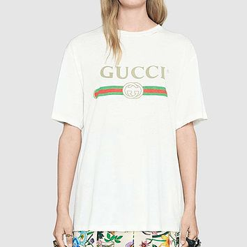 GUCCI Woman Men Fashion Flowers Tunic Shirt Top Blouse