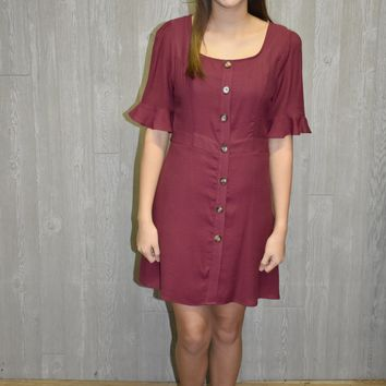 Fall Festive Burgundy Dress