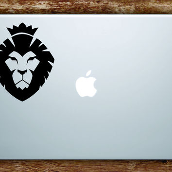 Lion Face Laptop Apple Macbook Quote Wall Decal Sticker Art Vinyl Animal King Cat Crown