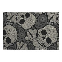Sugar Skull Crossbones Pattern Pillow Case