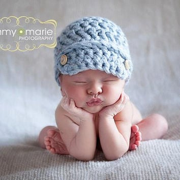 639c0fffaf3 ... buy steel blue newsboy cap newborn baby boy hat photo photography prop  19cbb 60b49