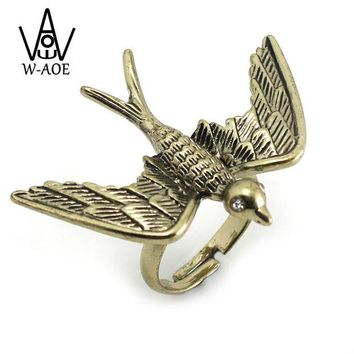 ONETOW OPAL FERRIE - 2017 New Arrival Bronze Vintage Bird Ring