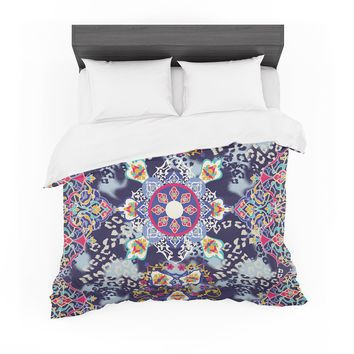 "Victoria Krupp ""Eastern Medallion"" Blue Multicolor Vector Featherweight Duvet Cover"