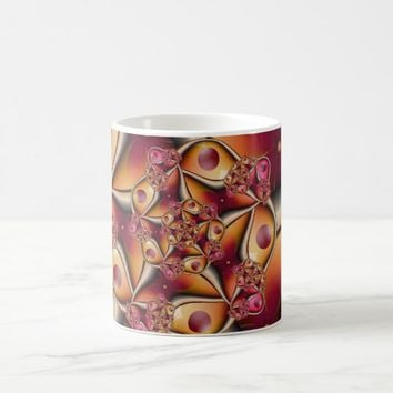 Colorful Joy Abstract Red Orange Fantasy Fractal Coffee Mug