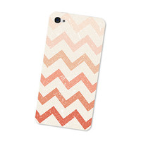 Peach Ombre Chevron Iphone 4s Skin: Cream and Pink Pastel Chevron Iphone Skin 4 - Gadget Decal Iphone 4 - Geometric Boho Southwestern