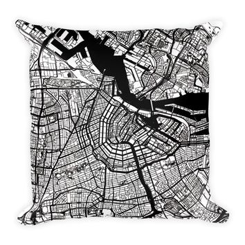 Amsterdam Map Pillow – Modern Map Art