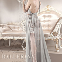 123 Hold Ups in Bianco (White) by Ballerina Hosiery