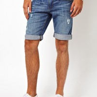 New Look | New Look Ripped Denim Shorts at ASOS